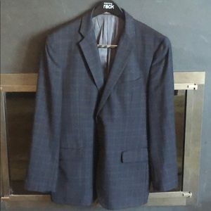 Joseph Abboud Plaid Wool Blazer 44R